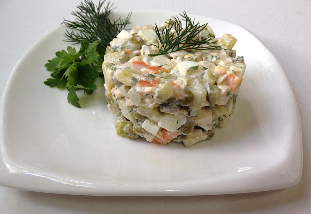 Столичный салат с курицей рецепт