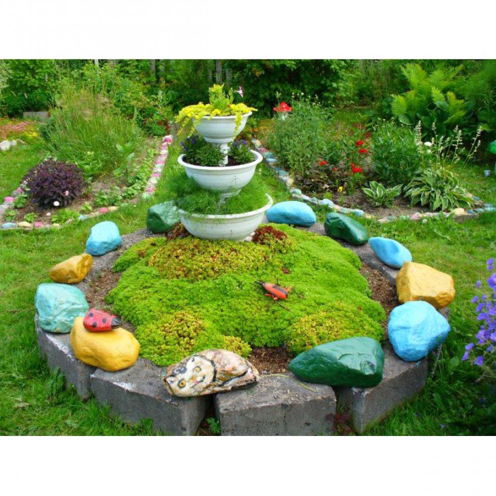 Чем украсить садовый участок своими руками