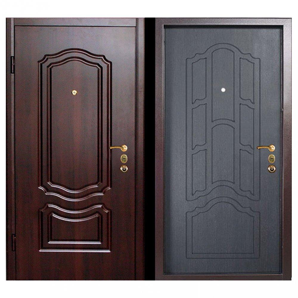 входные элитные металлические двери с отделкой